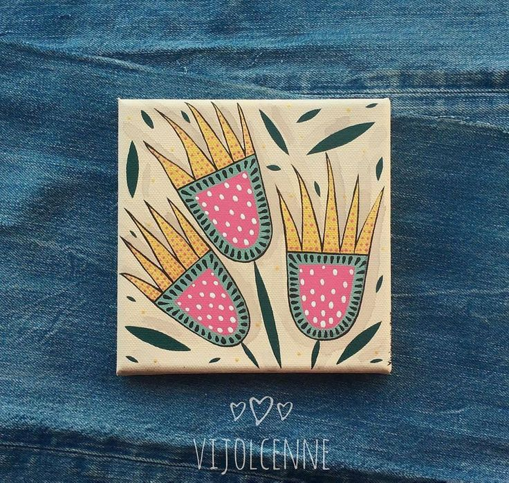 Original Mini Paintings - Mini Canvas art Home decor by Vijolcenne di Vijolcenne su Etsy