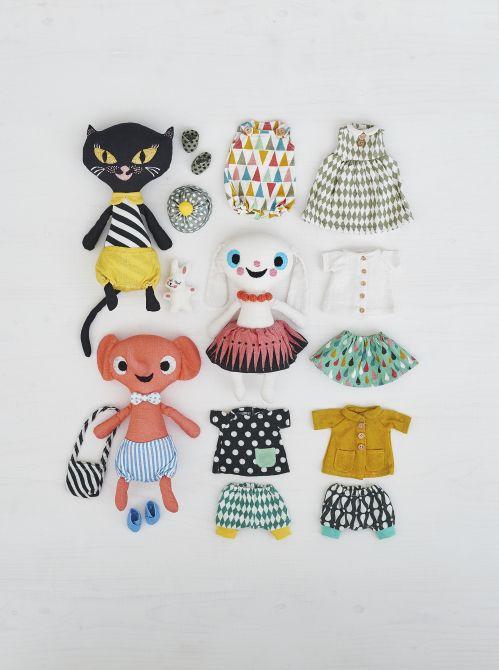 Los nuevos muñequitos de lino de #Littlephant #estilonordico #kids #deco