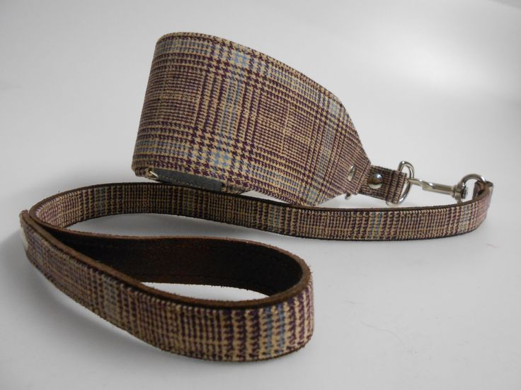 COLLAR: fabric check and ecoleather