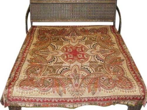 Reversible Jamavar Pashmina Cashmere Bedspread Blanket Olive Green Bed Cover | eBay