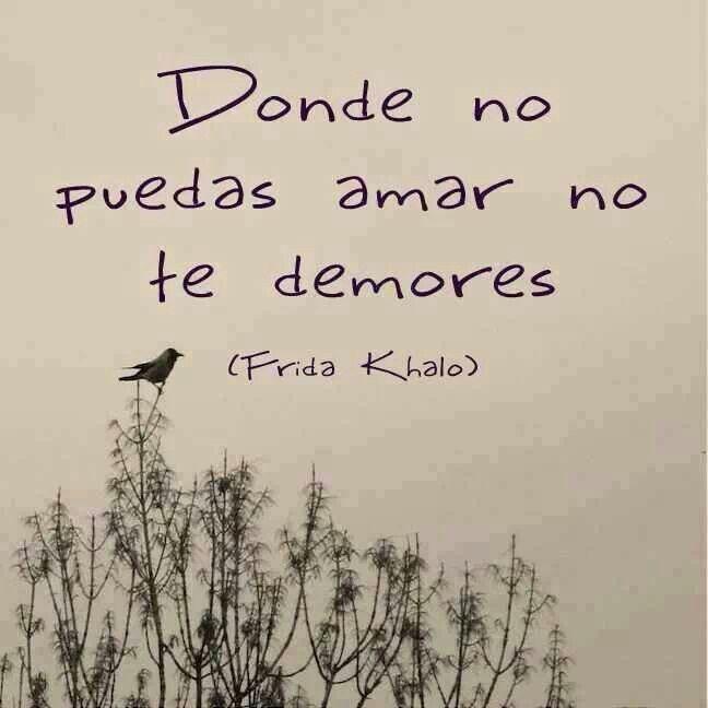 No continues perdiendo el tiempo. Frida Kahlo.