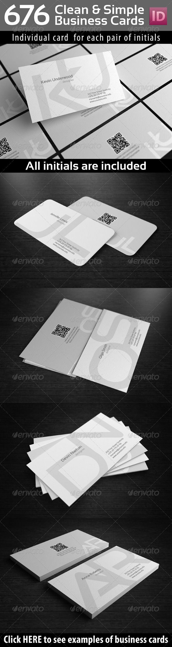 117 best business cards psd with qr code images on pinterest initials clean simple business cards with qr code magicingreecefo Gallery