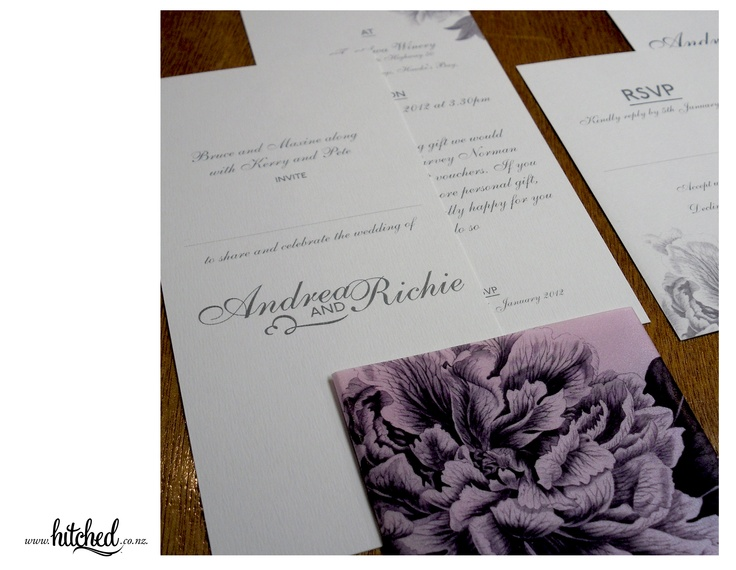 www.hitched.co.nz - Gorgeous botanical prints on traditional card stock.