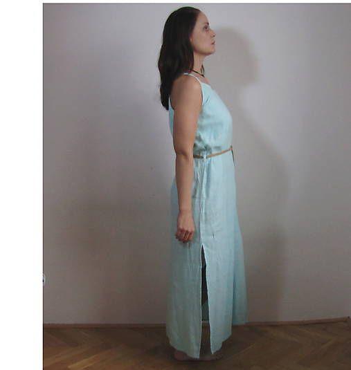 Ty-Gallery / ľanové šaty - morské