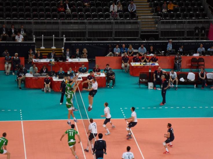Team GB v Bulgaria (0-3), London 2012 Mens Volleyball Preliminary round