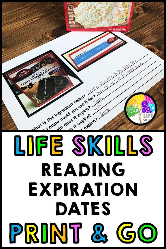 Life Skills Expiration Dates Special Education Cooking Reading Unit 1 Life Skills Classroom Teaching Life Skills Life Skills Activities