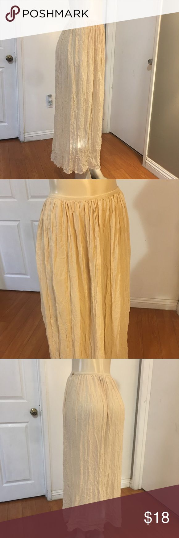 Calvin Klein Vintage Hippie Maxi Skirt Excellent condition  100% Silk Sheer fabric  Size 6 fits like modern S  54 inches length  28 inches waist Calvin Klein Skirts Maxi
