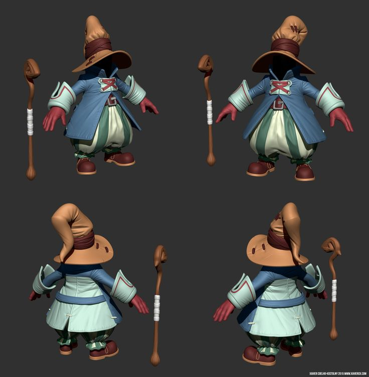 Vivi Ornitier high-poly WIP, Xavier Coelho-Kostolny on ArtStation at https://www.artstation.com/artwork/vivi-ornitier-high-poly-wip