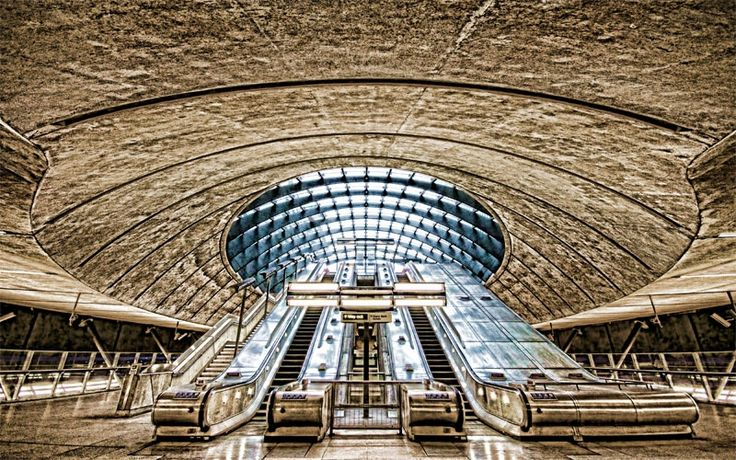Julian Abel Photography - Something Different Gallery Canary Wharf Underground Station