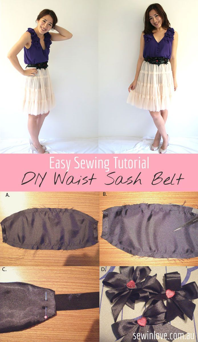 DIY Fashion Sash Belt - Free sewing pattern & tutorial to make your own waist belt. Inspired by Alannah Hill