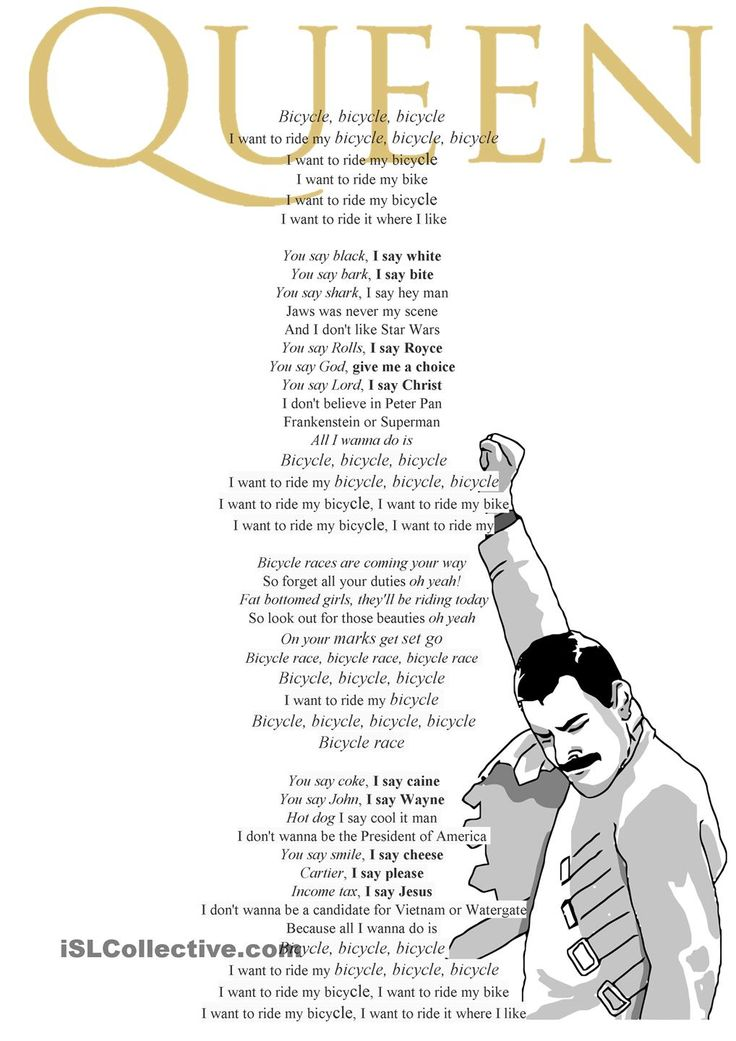 Bicycle race by queen lyrics