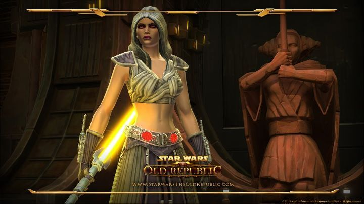 Jaesa Willsaam - Jedi Padawan who was later turned to the dark side and became the apprentice of the Sith Warrior in Star Wars: The Old Republic. She had a very rare and unique power, similar to Force sight, that allowed her to see the alignment and personality traits of other people.