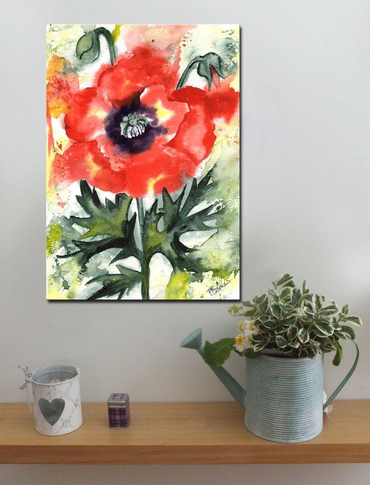 POPPY SPLASH http://www.splashyartystory.com/shop/art-prints/funky-red-poppy/