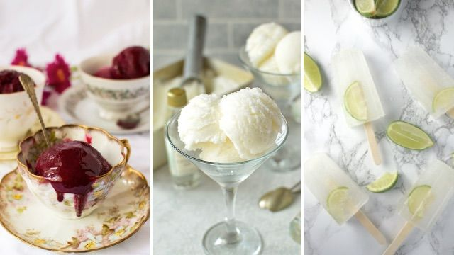It might be winter right now, but it's never to cold for sorbet and popsicles – especially when they contain gin.  These three recipes by food bloggers Domestic Gothess and A Dash of Ginger are perfect to serve up as a dessert.
