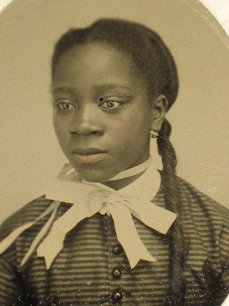 Civil War Era Tintype African American Young Woman  Old -2559