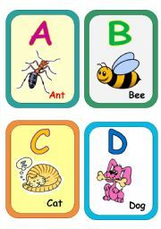Alphabet Flashcards Have Been Designed By English Language Teachers