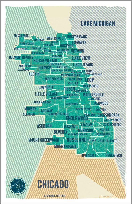Best 25 Chicago map ideas on Pinterest
