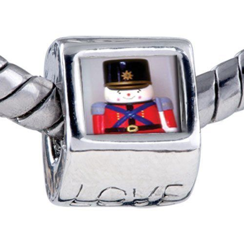Pugster Bead Soldier Boy Beads Fits Pandora Bracelet Pugster. $12.49. Hole size is approximately 4.8 to 5mm. Fit Pandora, Biagi, and Chamilia Charm Bead Bracelets. It's the photo on the love charm. Bracelet sold separately. Unthreaded European story bracelet design