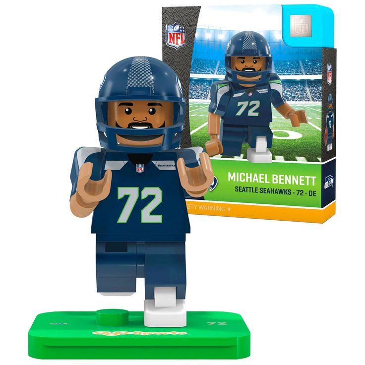 Michael Bennett Seattle Seahawks OYO Sports Generation 5 Player Minifigure - $10.39