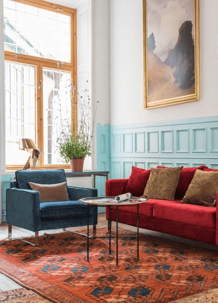 Emejing Wohnzimmer Gelb Blau Photos - Rellik.Us - Rellik.Us
