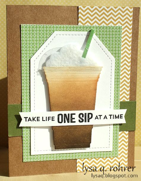 card cup coffee tea drink - life One Sip