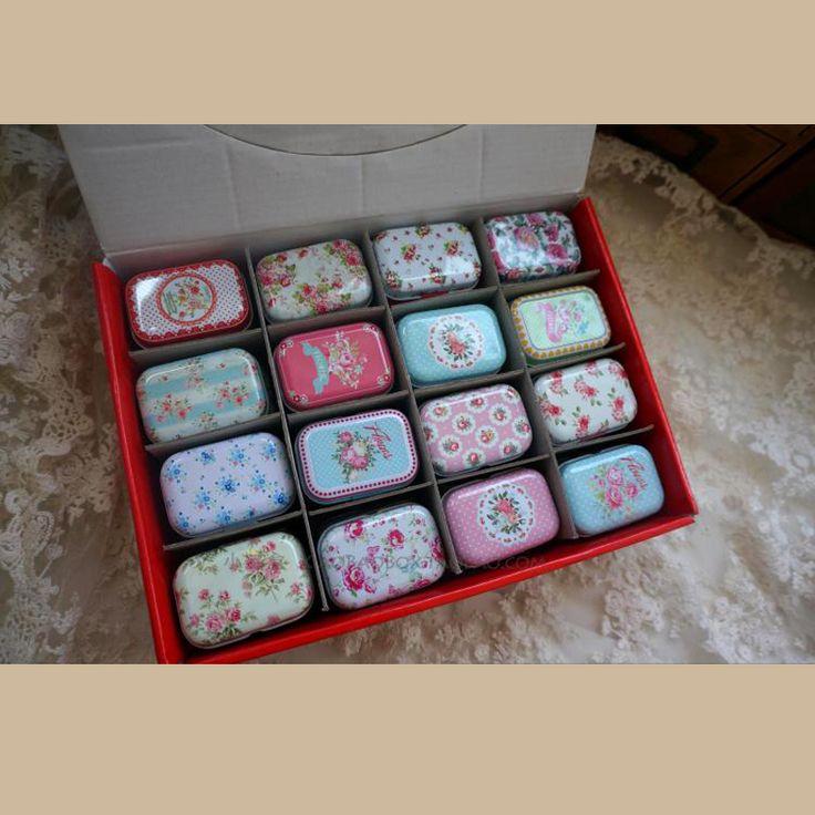 Hoge Kwaliteit Retro Bloem 12 Stks Blik Opbergdoos Mac Cosmetica Organisator Voor Thee Sieraden Lippenstift Kleine Leuke Schat Borst(China (Mainland))