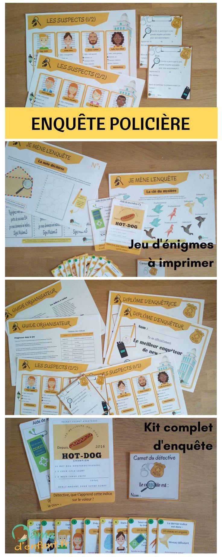 Jeu D'anniversaire Pour Fille De 10 Ans New 27 Best Enquête Policière à Imprimer 7 10 Ans Images ...