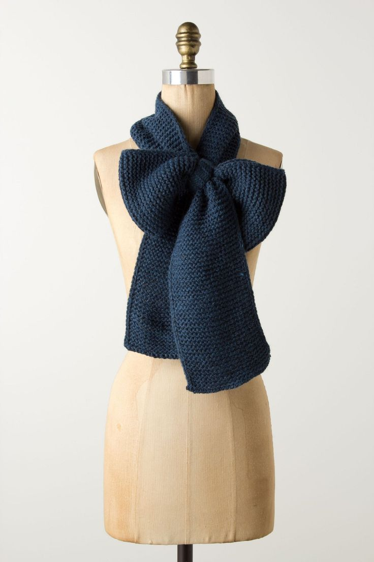 Blue Bow Scarf~~adorable!!!