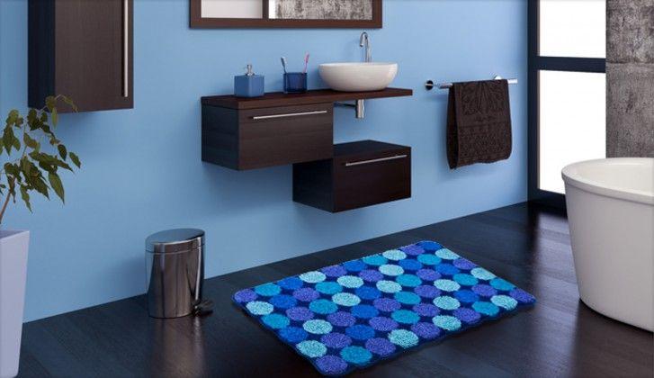 Agarthi - Koupelnová předložka 60x100 cm (modrá)