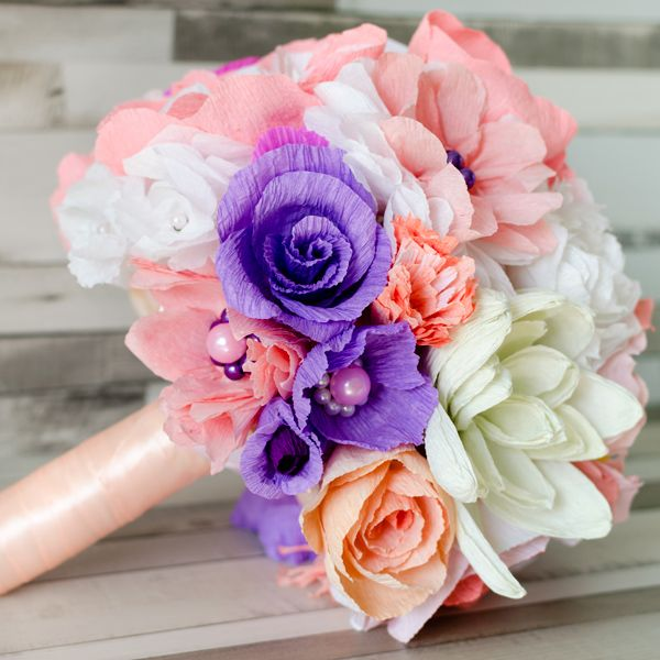 Product ID: BC0020We custom make colorful paper flower bouquets.Paper flower bouquets are very suitable for religious or civil ceremony. Keep forever the memory of the most beautiful moment of your life!All our products are handmade.This bouquet can be done in medium or large size.For prices please send me an email with the product ID at hello@thediywedding.comImpress! Be unique! Be creative!We believe we can help you have the most amazing wedding! Call us!
