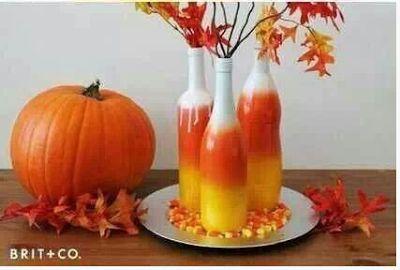 Fall wine bottle crafts