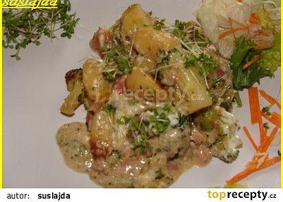 Zapečené gnocchi s brokolicí a sýrem recept - TopRecepty.cz