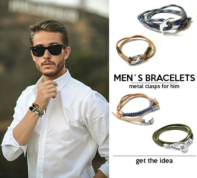 Mens bracelets and accessories New collection jewelry material fw 2015