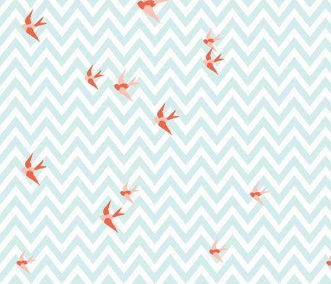 Seaside Love - Chevron fabric by wellmynever on Spoonflower - custom fabric