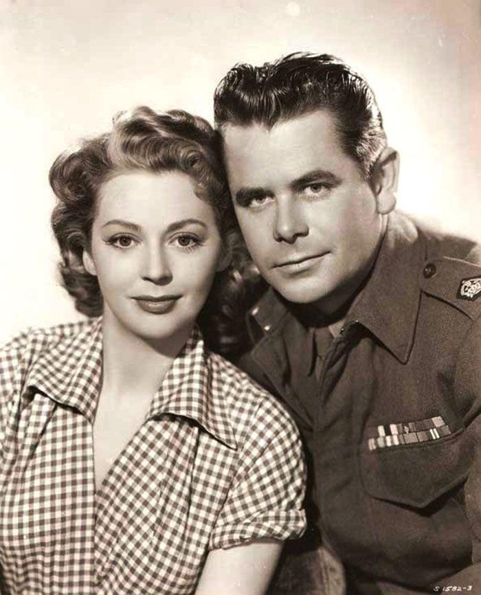 "Glenn Ford y Anne Vernon en ""Terror en el Tren"" (Time Bomb), 1953"