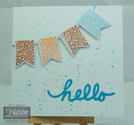 5x5 card made using Crafter's Companion Diamond Press Starter kit. Designed by Rachel Webber #crafterscompanion