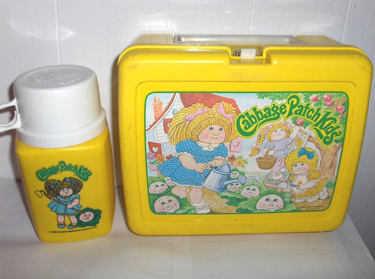 "Plastic lunch boxes with the matching thermos. Not a ""toy"" but totally represents the ""good old days"" mine was purple and prince jasmine!"