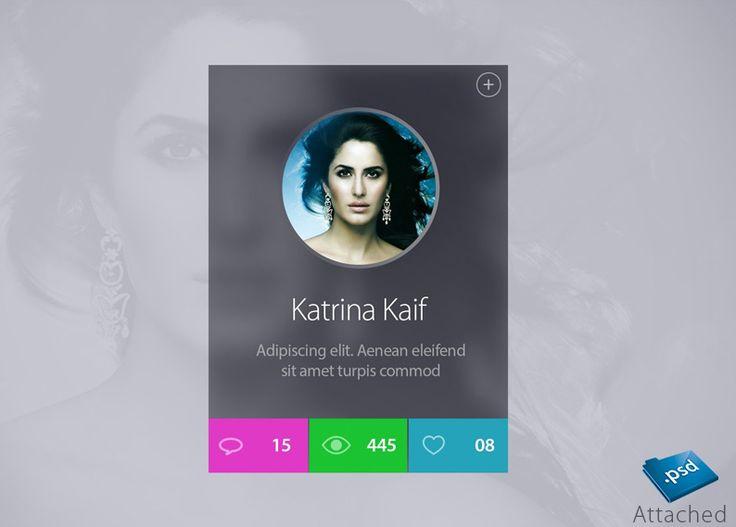 Celebrity Profile Widget Design