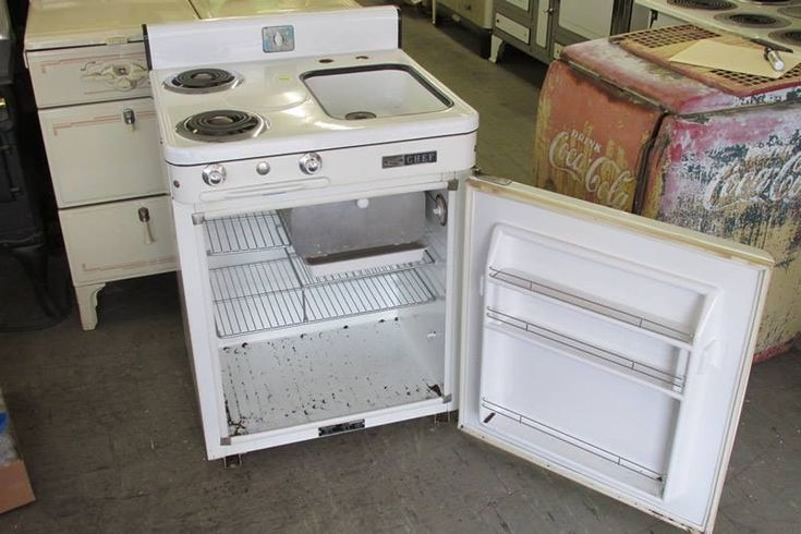 Inside Stove Icebox And Sink Also Vintage Combo