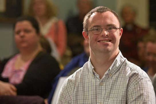 Tom Mills smiles after speaking at Province House during a press conference Thursday in downtown Halifax.