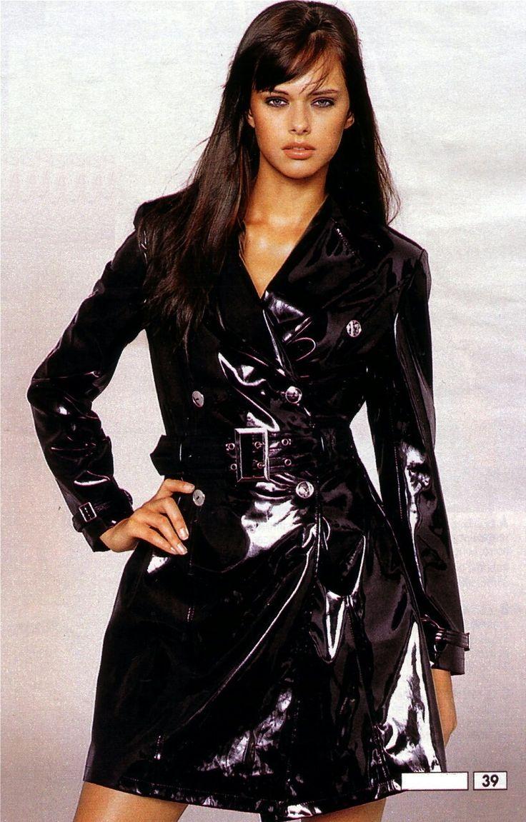 Frauen in Pvc-Lack-Vinyl Regenkleidung | Raincoat jacket