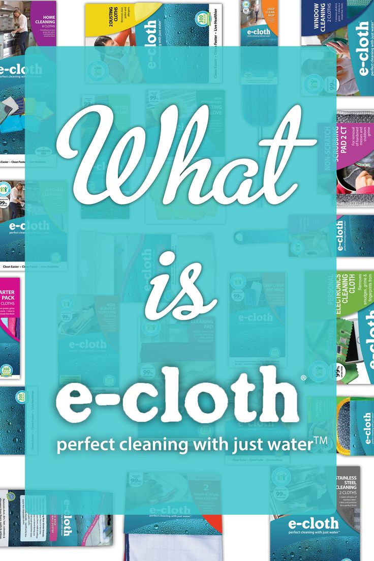 We're going back to basics. So, what IS e-cloth? And why is it different? . e-cloth is not just another microfiber cloth. Leading fiber technology and advanced chemistry enable superior performance using just water. e-cloth has 3.1 million fibers per square inch that act like tiny, hard-working little hands to pick up grease, grime and over 99% of bacteria using just water! . These fibers are so tiny and so dense that they can clean in one swipe. We'll put it into perspective: each fiber is…