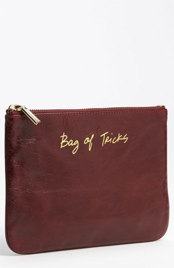 Rebecca Minkoff 'Erin - Bag of Tricks' Pouch available at #Nordstrom...or I could just write it on a different leather item with a gold marker?