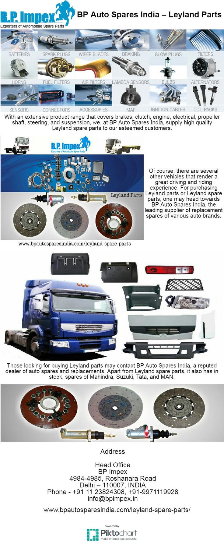 Leyland Parts looking for a reliable dealer to catering to the varied requirements of Ashok Leyland Falcon,Ashok Leyland 1112, Ashok Leyland Stallion spare parts by BP Auto Spares India.