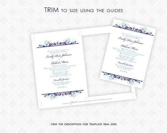 Invitation Template Printable DIY Wedding by WeddingsbyJanieV