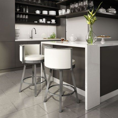 This stool is the perfect starter element for creating this look in your kitchen. It is the secret ingredient for relaxed breakfasts, leisurely lunches, and stress-free suppers. What more could you ask for?  Ultra-sturdy steel frame Well-cushioned seat and backrest  A fascinating world of creativity opens up; the line features a generous palette of metals, woods and coverings to work with. We provide the inspiration, you provide the look. MADE IN CANADA!