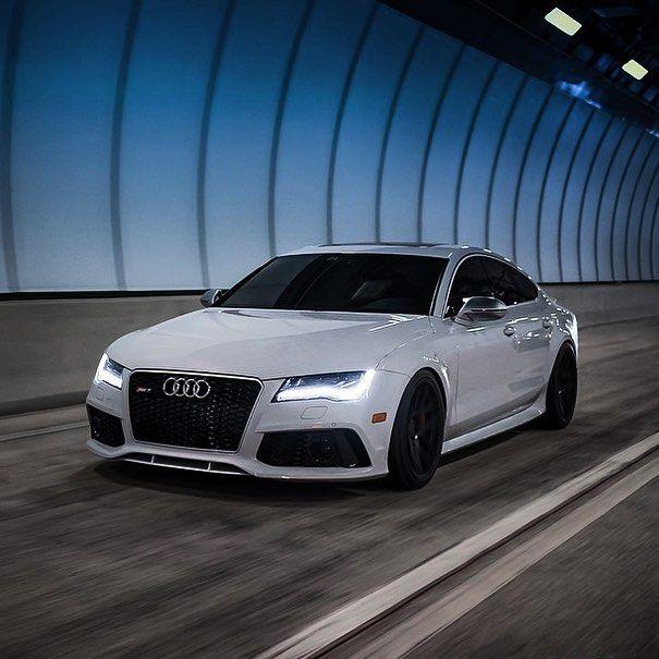 White on Black Audi RS7 | Credit: @rs_svn | Via: @absolute.billionaire Follow @absolute.billionaire for more! by: @vistale
