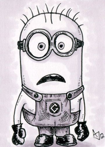 Despicable Me Set of 4 Sketch Cards by AtlantaJones on Etsy, $30.00