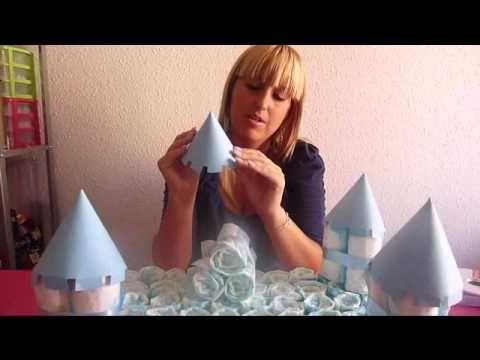 Castillo de pañales DIY - Regalos originales para bebé - YouTube