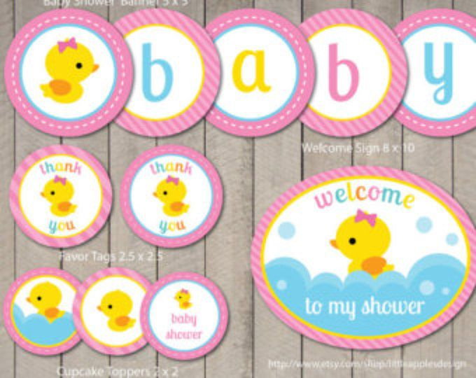 Rubber Duck Baby Shower / Rubber Duck Invitation / Rubber Duck Party / Rubber Duck Party Printable / Rubber Duck Printable / INSTANT